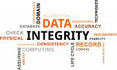 word cloud - data integrity