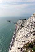 The Needles Isle of Wight landmark by Alum Bay