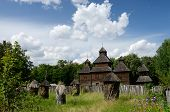 Resurrection Wooden Church With Apiary From Poltavshina Region ,ukraine,pirogovo,europe