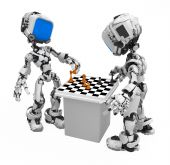 Blue Screen Robot, Chess Players poster