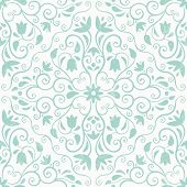 Floral vector pattern. Seamless background.