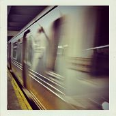 NYC Subway In Motion