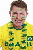 Male Soccer Fan Brazil