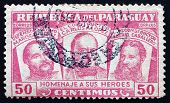 Postage Stamp Paraguay 1954 Three National Heroes