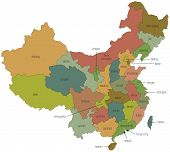 Map Of China With Province Names