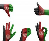 Hand Set With The Flag Of Afghanistan