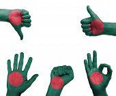 Hand Set With The Flag Of Bangladesh