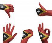 Hand Set With The Flag Of East Timor