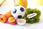 symbol of healthy physical activity isolated on white