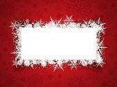 Christmas background with snowflake banner