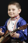 Little Boy With Balalaika