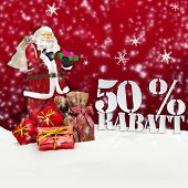 Santa Claus - Merry Christmas 50 Percent Discount