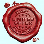 limited offer exclusive original edition and rare product Restricted and temporal promotion red wax seal stamp