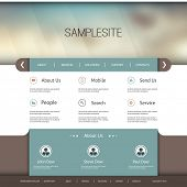 Website Template with Abstract Header Design