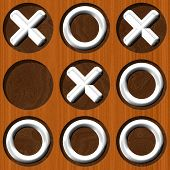 stock photo of tic  - Tic Tac Toe wooden board generated seamless texture - JPG