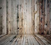 old wooden interior, retro background