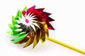 Multicolored Pinwheel Toy