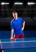Young man table tennis player (interior ver)