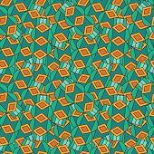 Abstract seamless repeating pattern.