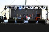 An empty Stage Before the Concert