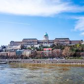 Beautiful view of historic Royal Palace in Budapest, Hungary