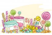 Sketchy Illustration Featuring Assorted Candies