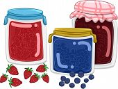 Illustration Featuring Homemade Fruit Jams