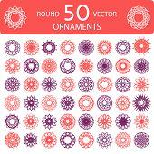 Round Color Ornament Set
