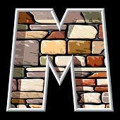 stone letter M