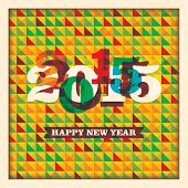 Abstract New Year background. Vector illustration.