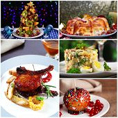 Christmas delicious dishes collage
