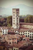 Retro Faded Styled Picture Of Lucca In Italy.