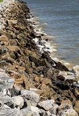 Old Granite Stone Seawall