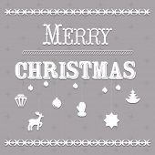 Typographic Christmas Text And Design Vector