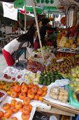 People Buy Fruits From The Street In Macau