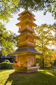 Pagoda In The Fort Worth Japanese Gardens