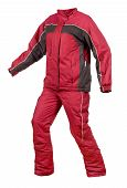 Snowboard Jacket And Pants On A White Background