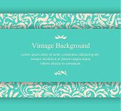 Vintage Background Card With Floral Ornament