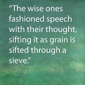 Inspirational quote by the Buddha on earthy green background