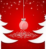 Christmas background with Christmas decorations. Vector illustration.