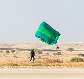 Athlete Landed Safely By Parachute