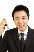 Japanese businessman receives complaint call