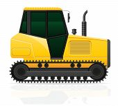 Tractor Vector Illustration Isolated On White Background