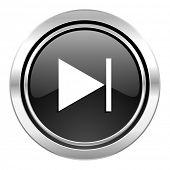 next icon, black chrome button
