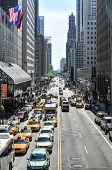 New York Traffic Along 42Nd Street