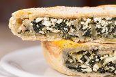 Chard Pie Closeup