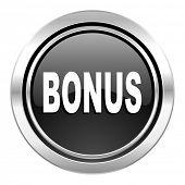 bonus icon, black chrome button