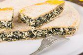 chard and cheese savory Pie