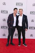 LOS ANGELES - NOV 23:  Michael Turchin, Lance Bass at the 2014 American Music Awards - Arrivals at the Nokia Theater on November 23, 2014 in Los Angeles, CA