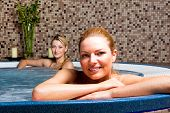 Two Young Women In Hot Tub